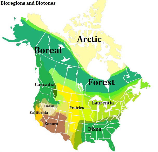 Bioregions and Biotones of North America