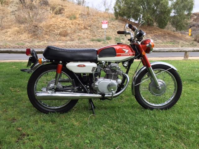 Honda CB175 Tangki Klasik Orange