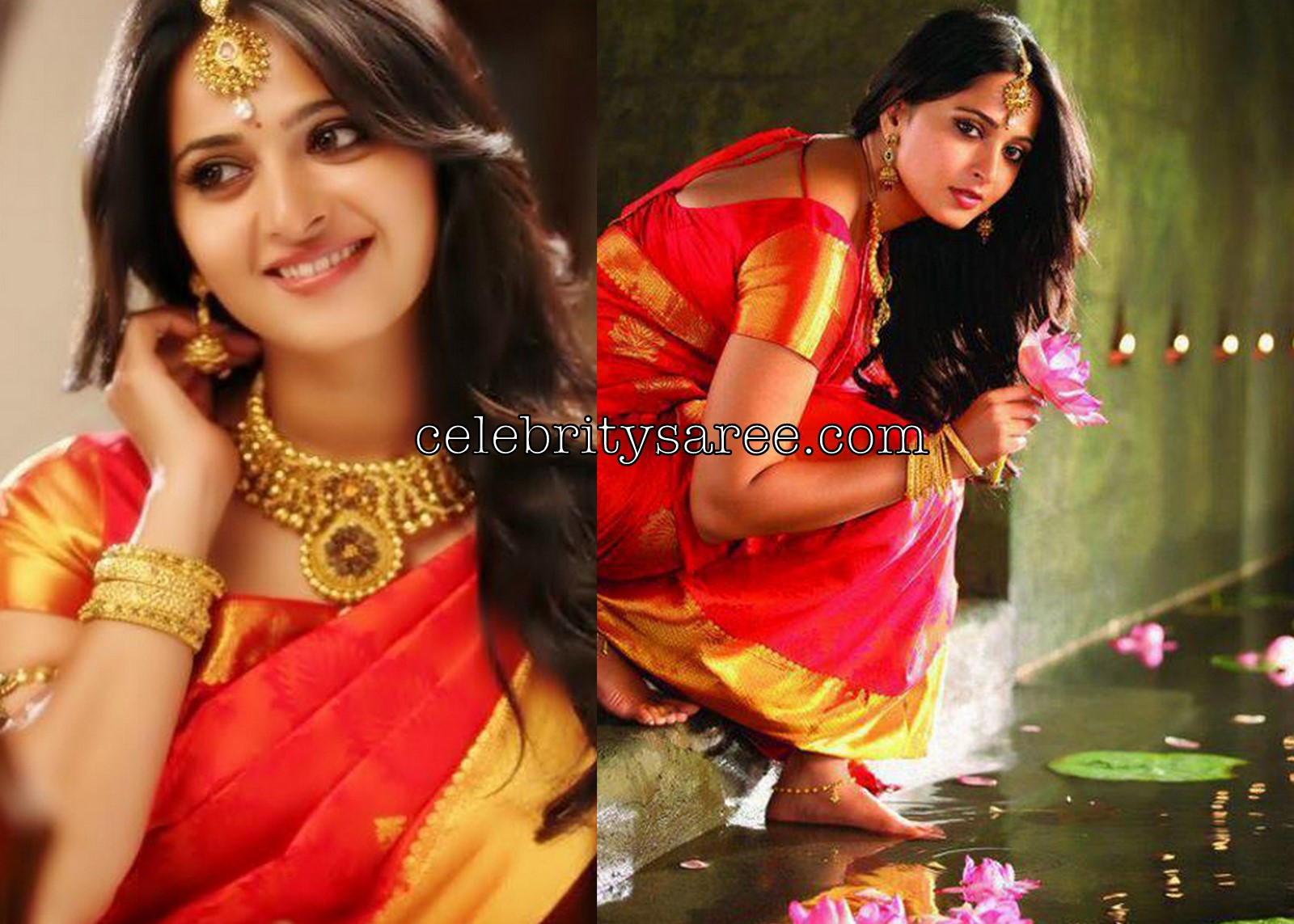 Anushka Shetty Hot In Green Saree Blouse 171 Daily Best And