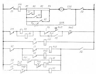 Схема управления электроприводом пожарно-балластного насоса