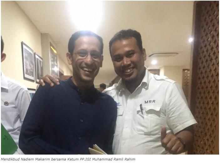gambar ketua Ikatan guru Indonesia dan MENDIKBUD