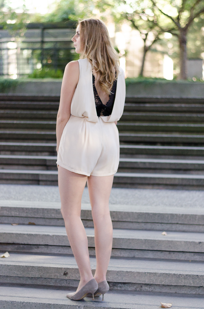White and Lace Romper