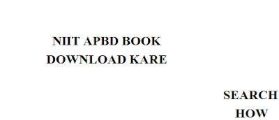 NIIT APBD BOOK DOWNLOAD KARE - Search How