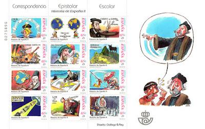 Gallego y Rey, Historia de España en sellos