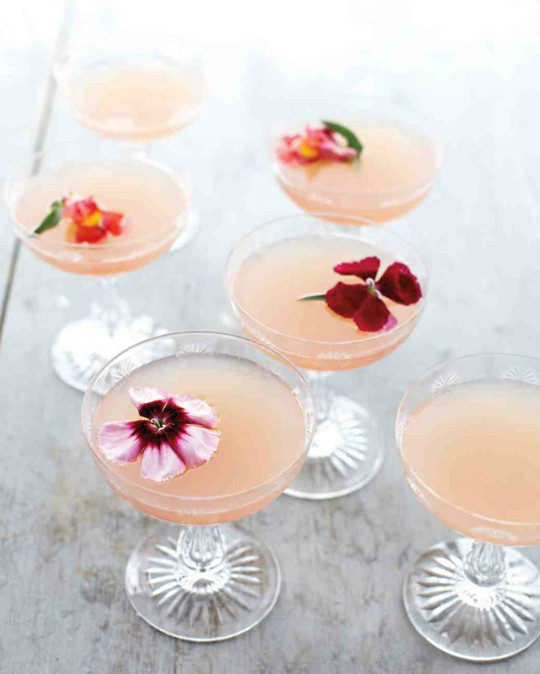 Spring Lillet Rose Champagne Cocktail for bridal shower