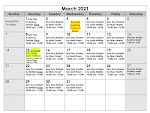 See What's Happening ! Monthly Calendar