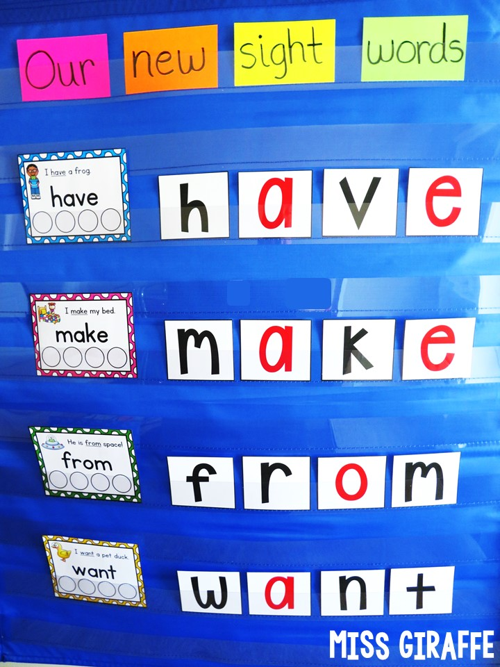 Spelling Sight Words In The Pocket Chart Center And So Many Fun Ideas For Teaching