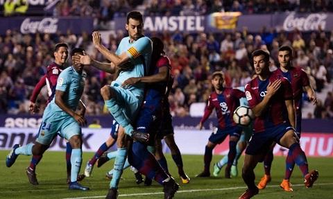Cuộc đối đầu của Barca và Levante