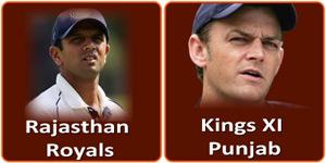 आइपीएल 6 का अठरहवां मैच राजस्थान रॉयल्स और किंग्स एलेवेन पंजाब के बीच होना है।