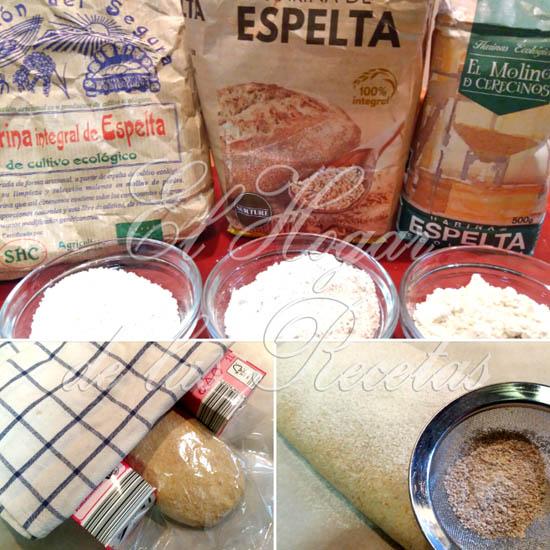 Pan Integral de Espelta: Harinas, última subida con ayuda de tetrabriks de leche y harina antes del greñado