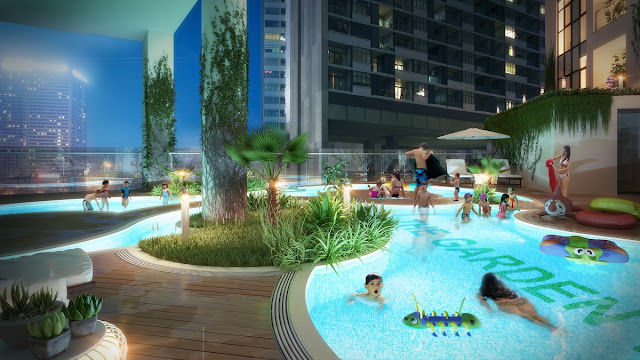 Bể bơi dự án The Garden Hill