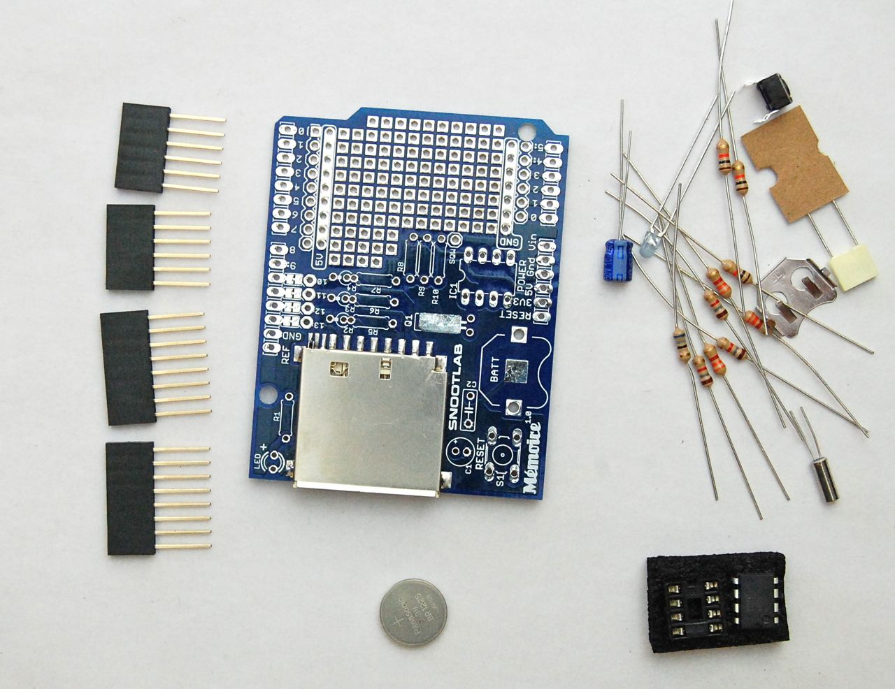 Dr Monks Diy Electronics Blog A Review Of Snootlabs Memoire Arduino Real Time Clock Shield Schematic Which Gives You Can Solder In Your Own Temperature Sensors Or Whatever Else Want To Log Along With The
