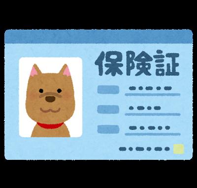ペットの保険証のイラスト(犬)
