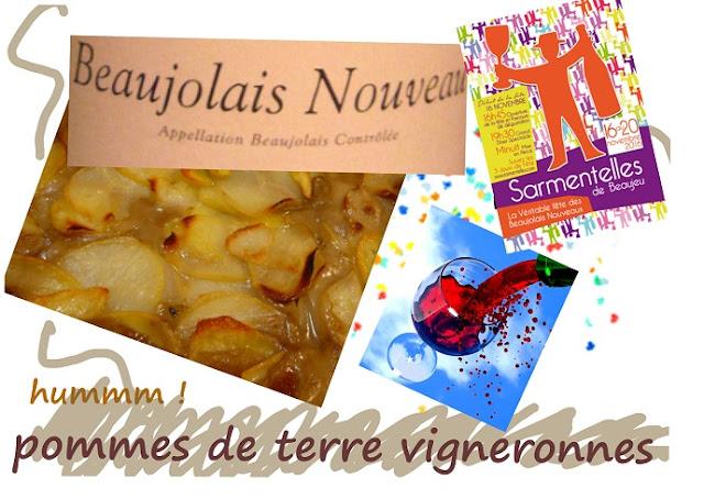 pommes de terre vigneronnes, Beaujeu, Beaujolais, Sarmentelles