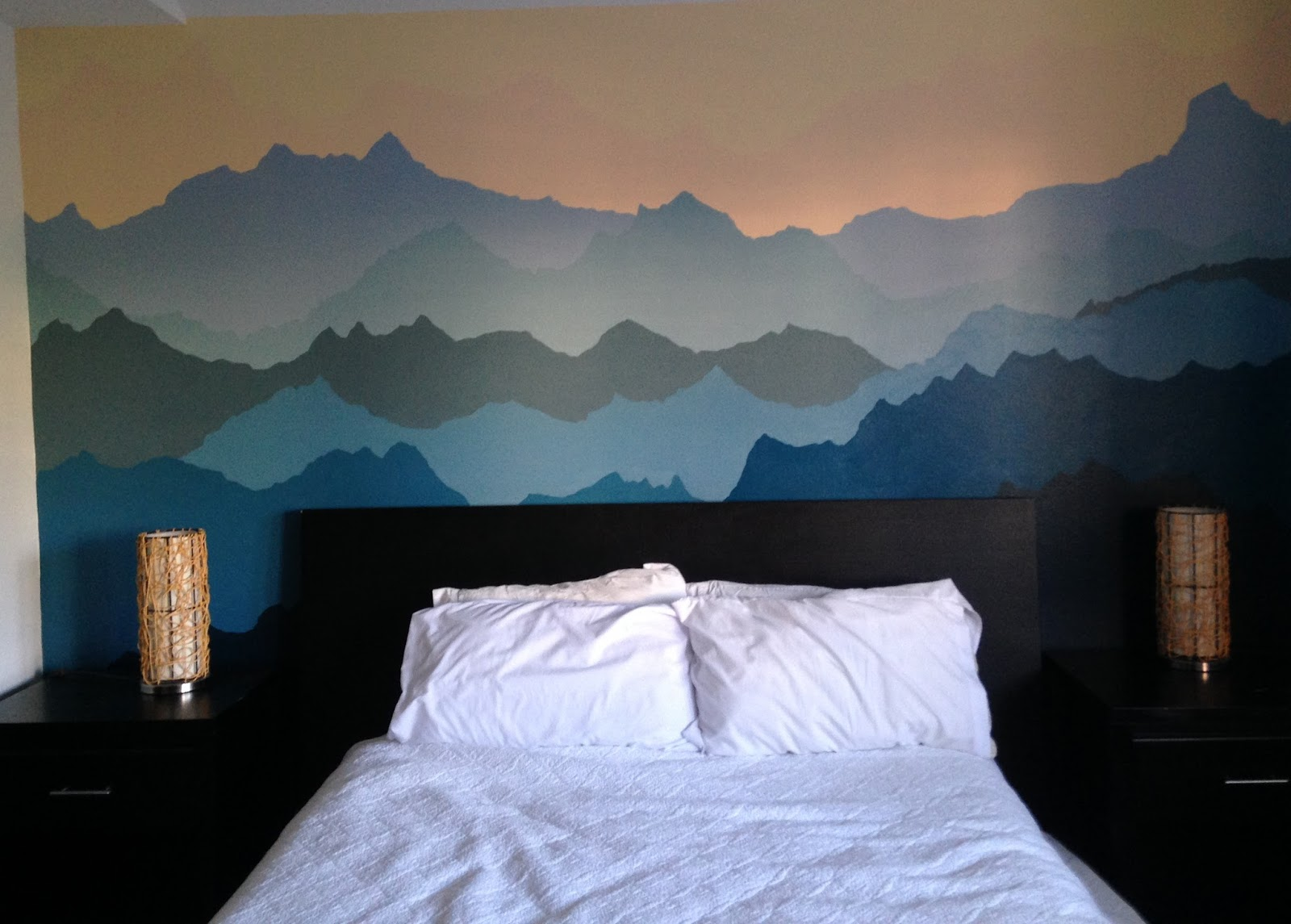 An adventurous life how to paint a mountain mural for Bedroom mural painting