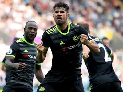 Bandar Resmi SBOBET Terbaik 2016 - Gol Tunggal Diego Costa Sukses Antar Chelsea Ke Puncak Klasemen
