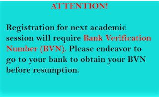 UNN Enugu requires BVN number