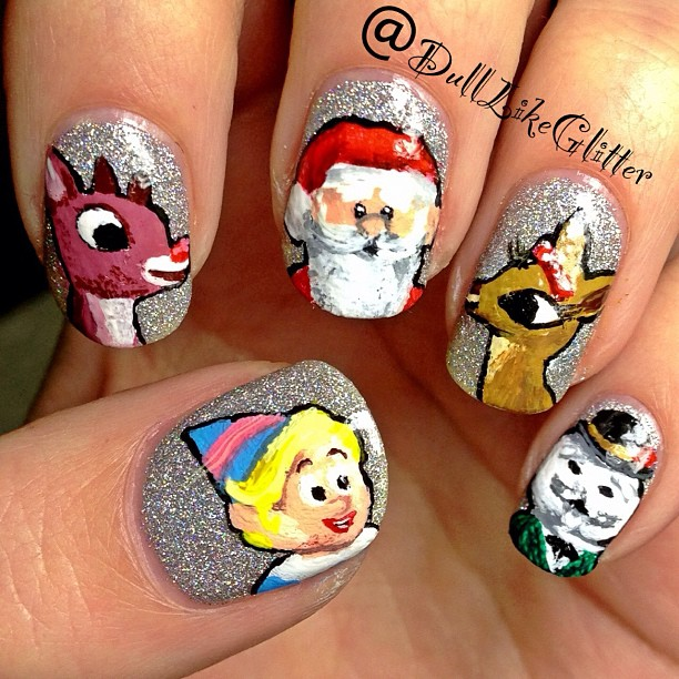 Reindeer Nail Art: Saving The World One Nail At A Time: Rudolph The Red Nosed