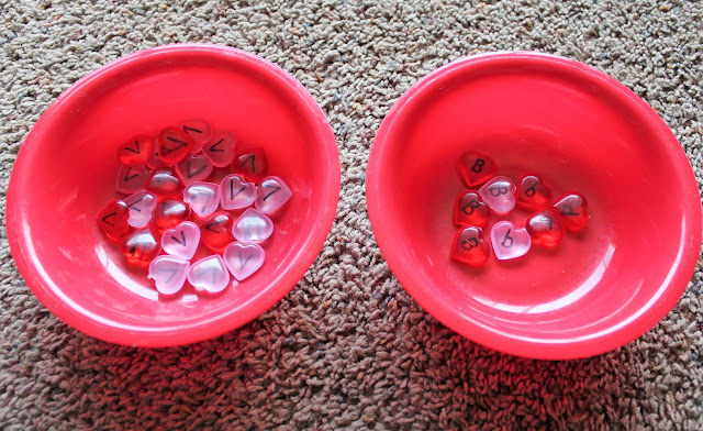 Valentine's sorting activity