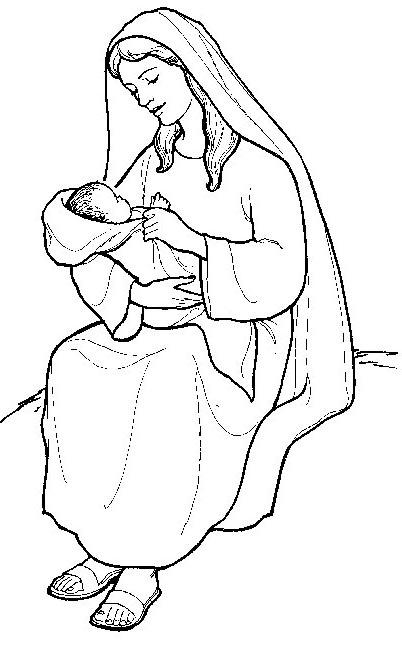 Compartiendo por amor: Dibujos María Madre de Dios