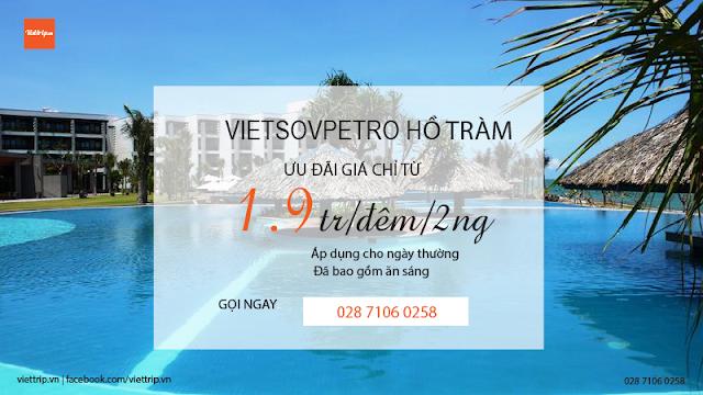 Khuyến mãi Vietsovpetro resort hồ tràm