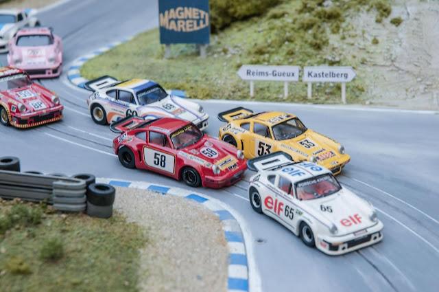 Slot Car Custom #58 Porsche 911 RSR Gelo Racing Team 24h Le Mans 1975