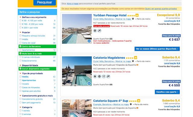 Busca personalizada hotéis em Barcelona