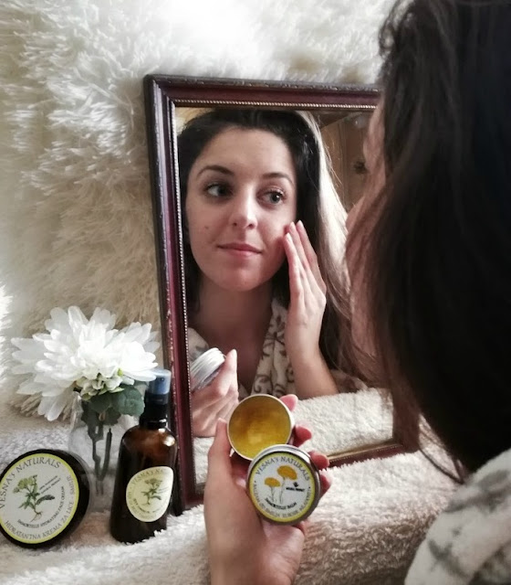 vesna's naturals, natural products, tea, herbal tea, melem, balzam, skin, skincare, beauty, acne, spots, scars, facial, herbs