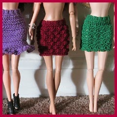 DISTINTAS FLADAS A CROCHET PARA BARBIE