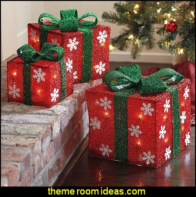 Tinsel Gift Boxes