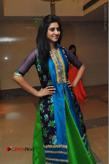 Actress Model Shamili Sounderajan Pos in Desginer Long Dress at Khwaaish Designer Exhibition Curtain Raiser  0036.JPG