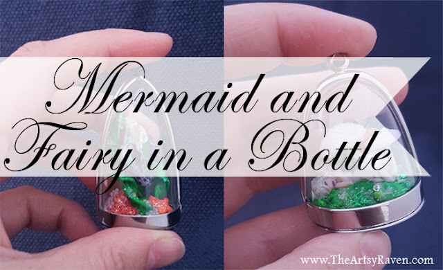 Mermaid and Fairy in a Bottle by TheArtsyRaven