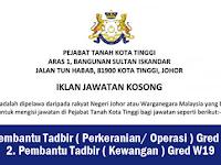 Jawatan Kosong Terkini di Pejabat Tanah Kota Tinggi Johor - Kelayakan Minimum SPM
