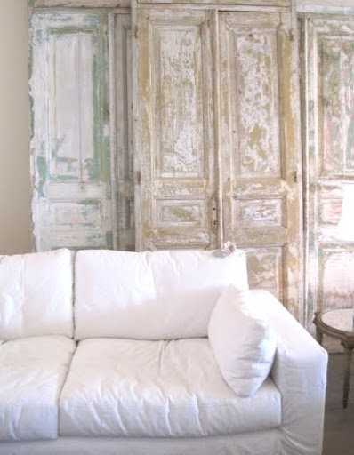shabby chic sofa with slip covers