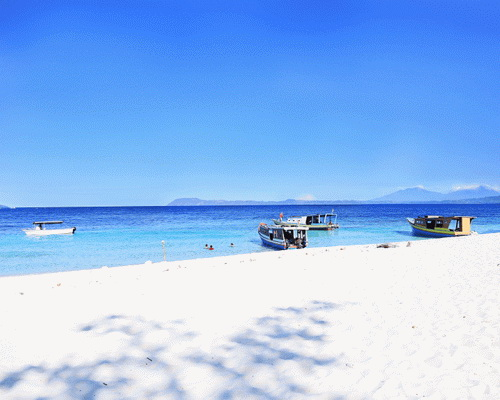 Tinuku.com Travel Lihaga Island a dreamland snorkeling, sunbathe on white sand powder and spend night in tent