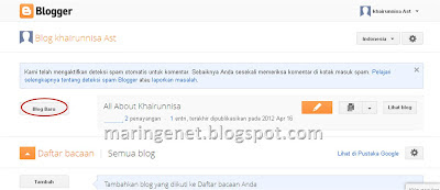 membuat blog, blogspot, create blog