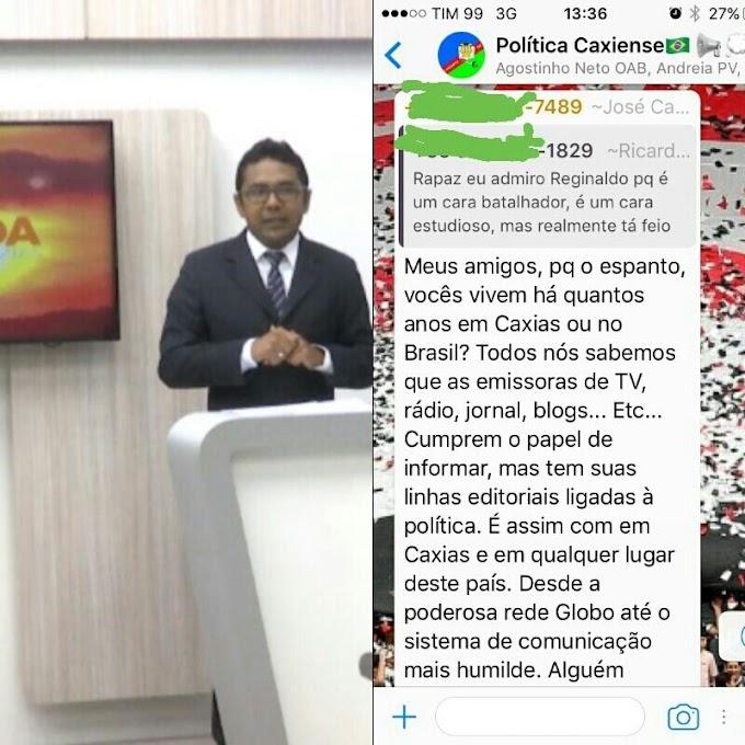 """Repórter afirma que TV Sinal Verde segue """"linha editorial ligadas à política"""" e prova que emissora dos Coutinhos não tem credibilidade"""