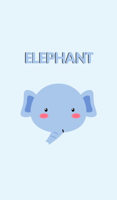 Simple Cute Face Elephant Theme(jp)