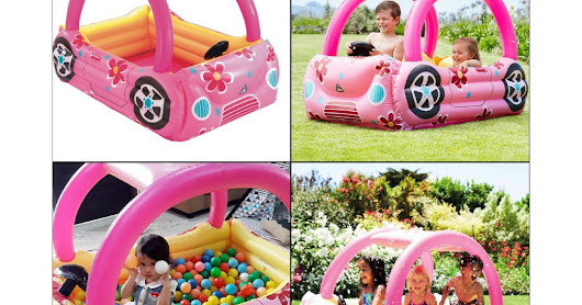 138-Pink Car Pool With Balls