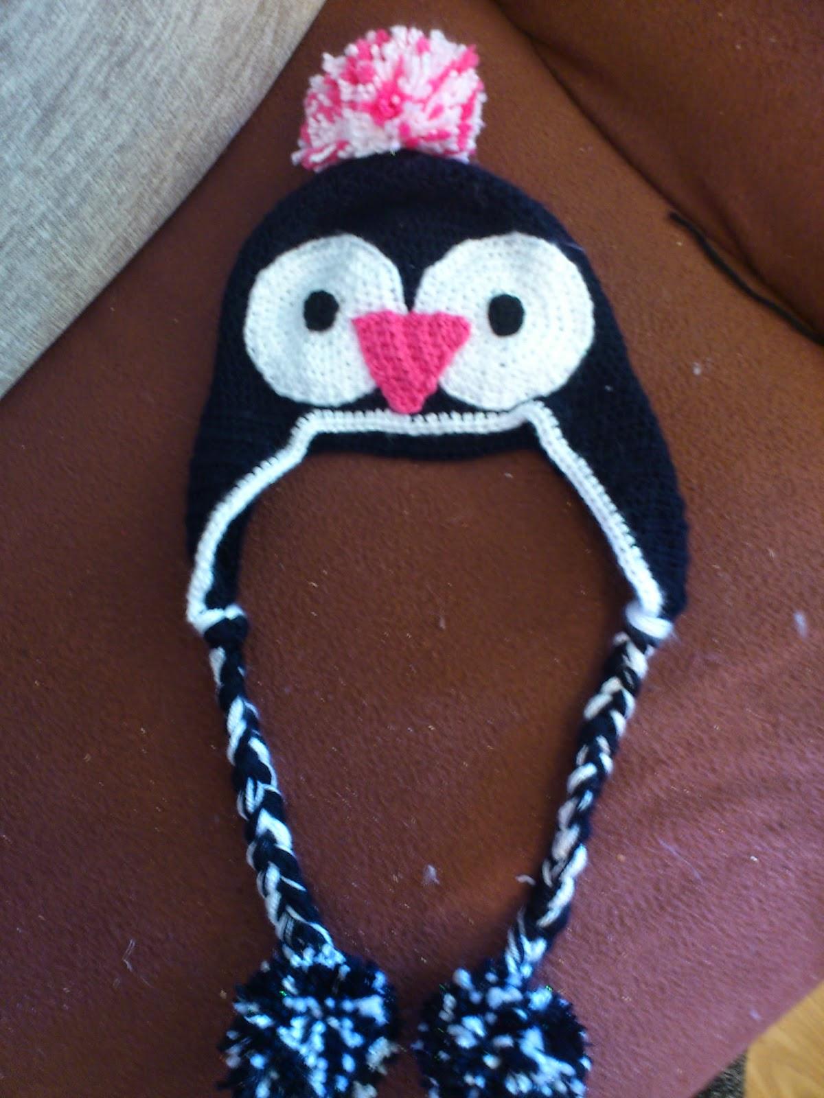 Mütze Pinguin Gehäkelt