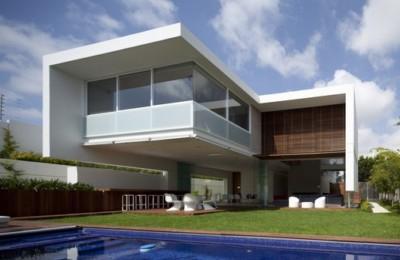 rumah kontemporer tropis