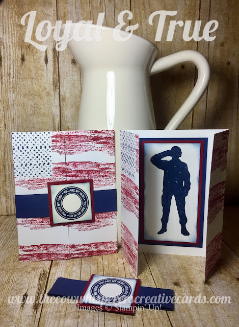 Loyal & True, Military, Independence Day, July 4th, Card, Hero, Stampin Up