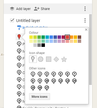 How to use your own icons in Google My Maps | Blogger-Hints-and-Tips
