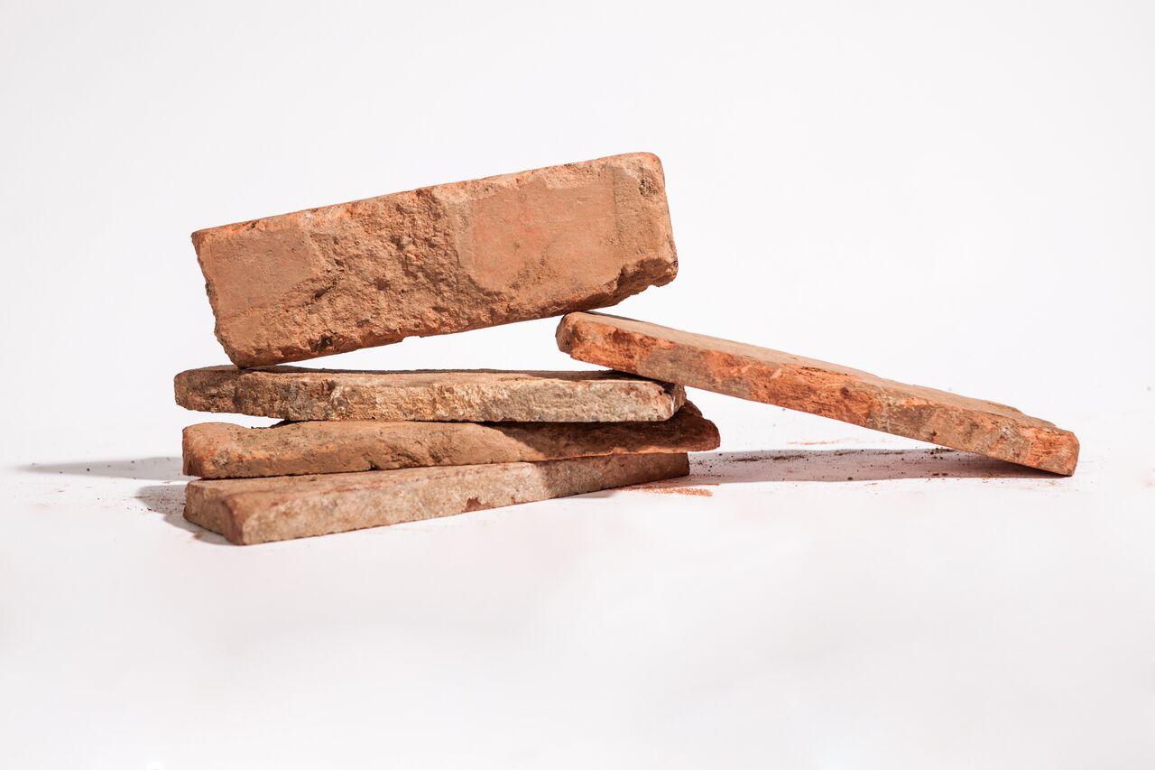 original reclaimed thin brick tiles by vintage bricks