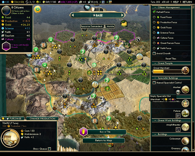 Civilization 5: Brave New World - City Screen