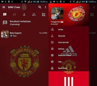 BBM Mod Manchester United (MU) v3.2.5.12 Apk Terbaru 2017