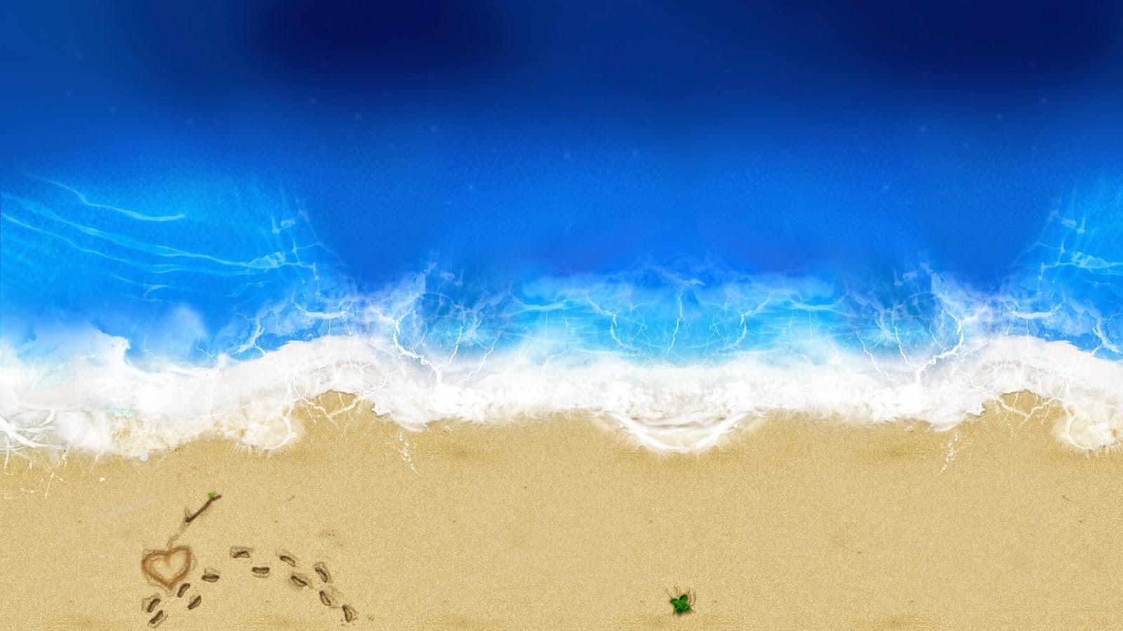 Love Beach wallpaper