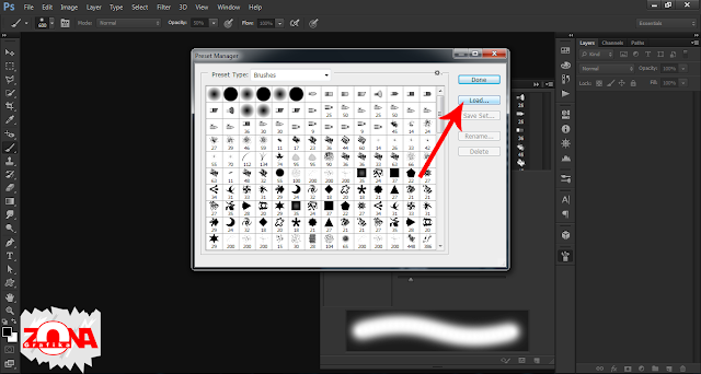 Cara Memasukan Brush Baru ke Adobe Photoshop CS6