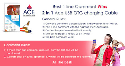 2 in 1 Ace USB OTG charging Cable