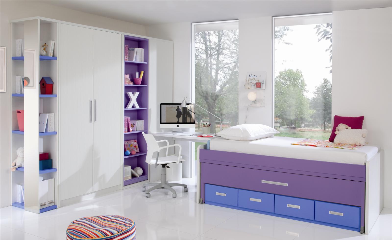 Bianchi muebles dormitorios juveniles valencia for Dormitorio juvenil cama alta